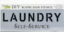 "DIY Rustic Sign Stencil, 16.5""x6""- Laundry"