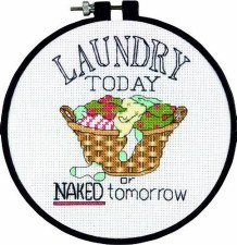 "Dimensions ""Learn a Craft"" Cross Stitch Kit- Laundry Today"