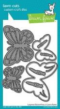 Lawn Fawn Craft Dies- Butterflies, Layered