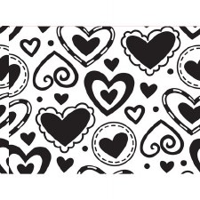 Darice Embossing Folder- Background- Layered Hearts