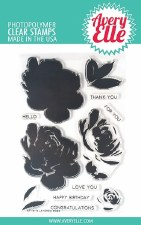 Avery Elle Layered Rose Clear Stamp