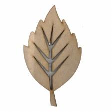 """Leaf MDF Cut Out, 6"""""""