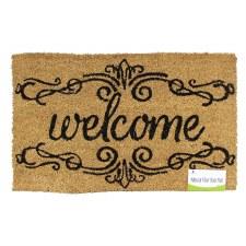 Natural Fiber Door Mat- Welcome