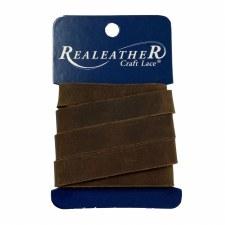 "RealLeather Craft Lace- 1/2"" Dark Brown"