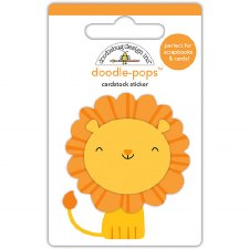 At The Zoo Stickers- Doodle Pops- Leo Lion