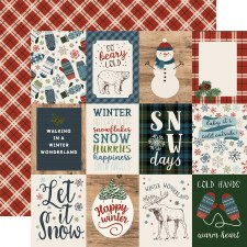 Let It Snow 12x12 Paper- 3x4 Cards