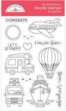 I (Heart) Travel Let's Getaway Doodle Stamps