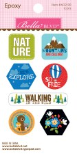 Let's Go On An Adventure Epoxy Stickers