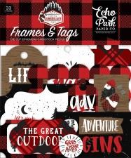 Let's Lumberjack Die Cuts- Frames & Tags