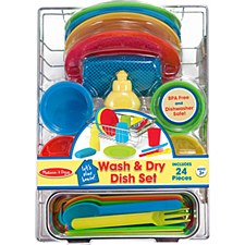 Melissa & Doug Food/Kitchen Play Set- Dish Set