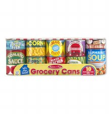 Melissa & Doug Food/Kitchen Play Set- Grocery Cans