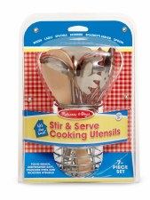 Melissa & Doug Food/Kitchen Play Set- Stir & Serve Cooking Utensils Play Set