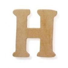 """Wood Letter, 3""""- H"""