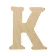 """Wood Letter, 3""""- K"""