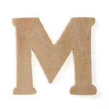 """Wood Letter, 3""""- M"""