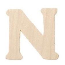"""Wood Letter, 3""""- N"""