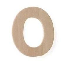 """Wood Letter, 3""""- O"""