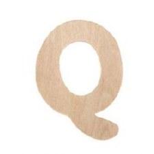 "Wood Letter, 3""- Q"