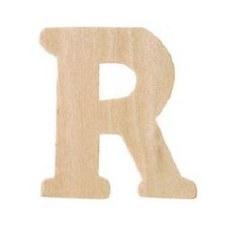 "Wood Letter, 3""- R"