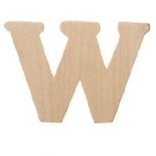 "Wood Letter, 3""- W"