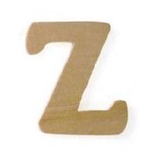 """Wood Letter, 3""""- Z"""