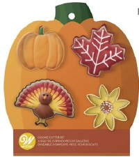 Fall Cookie Cutters, 4ct