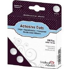 "Scrapbook Adhesives Repositionable Adhesive Dots- Large, 1/2"""