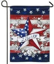 Garden Flag, Suede- Liberty Star