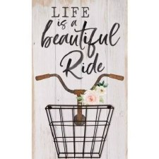 Pallet Decor w/ Basket- Life is a Beautiful Ride