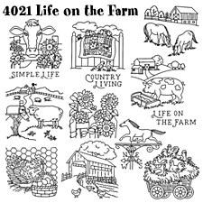 Aunt Martha's Iron On Transfers- Life On The Farm #4021