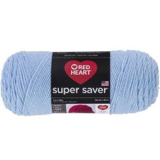 Red Heart Super Saver Yarn- Light Blue