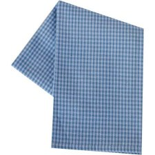 "Mini Check 20""x28"" Tea Towel- White & Light Blue"