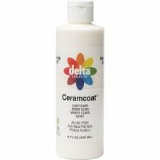 Delta Ceramcoat Acrylic Paint, 8oz- Light Ivory