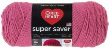Red Heart Super Saver Yarn- Light Raspberry