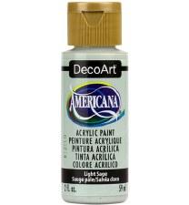 Americana Acrylic Paint, 2oz- Greens: Light Sage