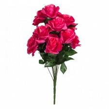 """Lillian Open Rose Bush, 17""""- Fuschia"""