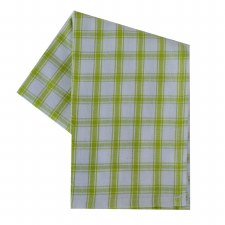 "Creekside Plaid 20""x28"" Tea Towel- Lime"