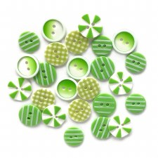 Button Fusion Buttons- Lime Lite