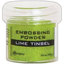 Embossing Powder- Tinsel, Lime