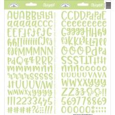 Abigail Alphabet Sticker- Limeade