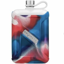 Liqour Canteen 8oz- Red, White, & Blue Swirl