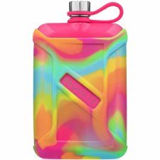 Liqour Canteen 8oz- Neon Pink Tie Dye