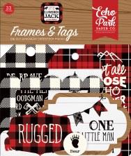 Little Lumberjack Ephemera Die Cuts- Frames & Tags
