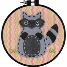 Learn 2 Craft Felt Applique Kit- Little Raccoon