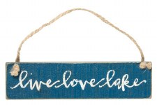 Hanging Wood Sign- Live Love Lake