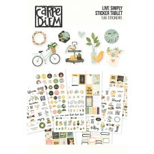 Carpe Diem Sticker Tablet- Live Simply