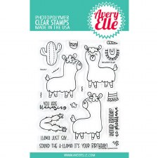 Avery Elle Llamazing Clear Stamp