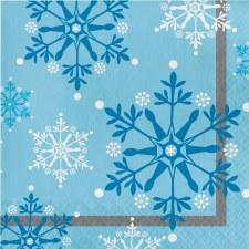 Snowflake Swirls Lunch Napkin - 16ct.