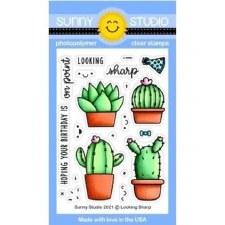 Sunny Studio Lookin' Sharp Clear Stamp Set