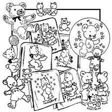 Aunt Martha's Iron On Transfers- Lotsa Bears #3809